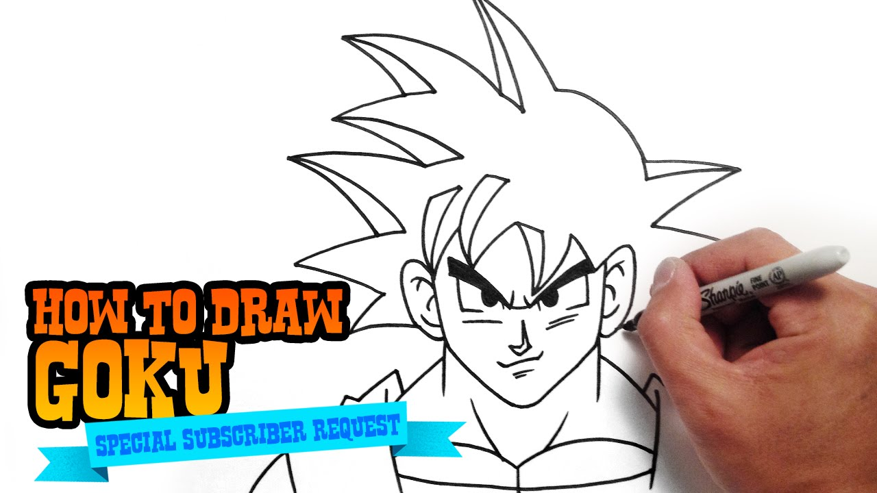 1280x720 How To Draw Goku From Dragon Ball