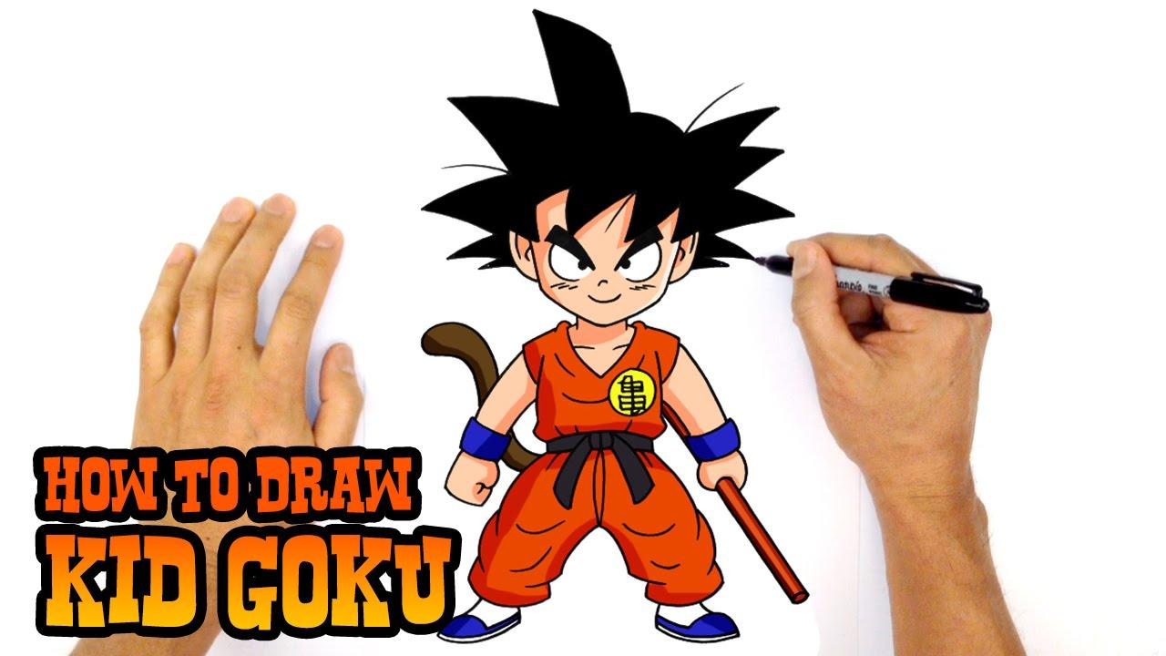 1280x720 How To Draw Kid Goku Dragon Ball Z
