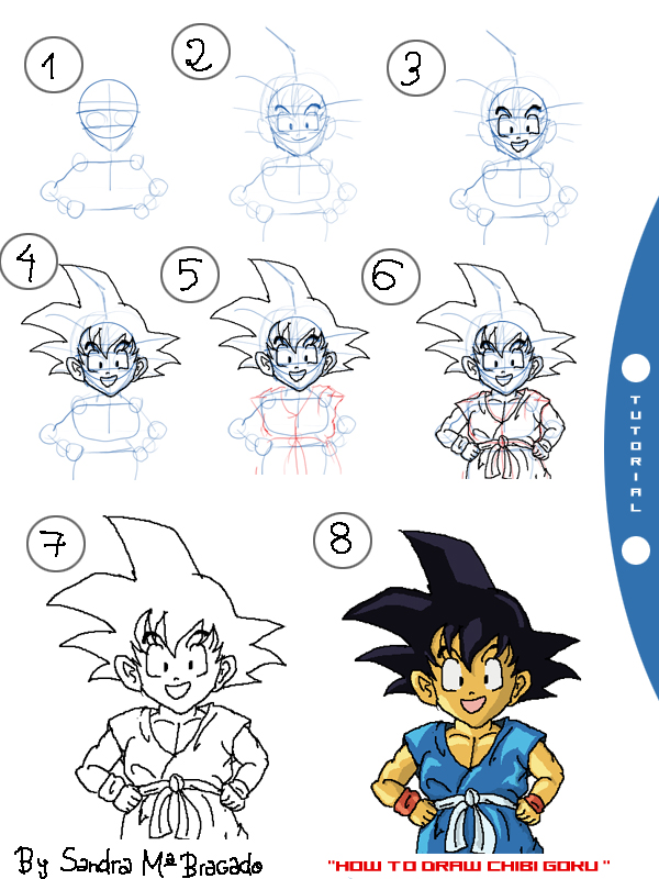 Goku Drawing Step By Step At Getdrawings Com Free For Personal Use