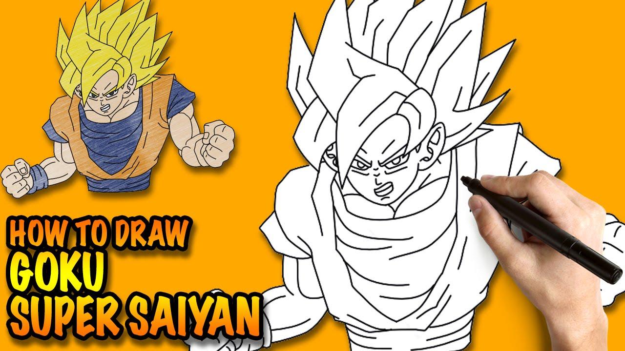 1280x720 How To Draw Goku Super Saiyan Dragon Ball Z