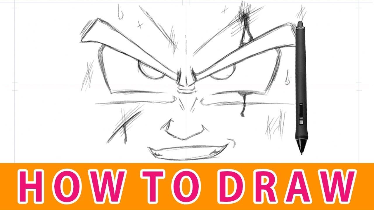 1280x720 Comment Dessiner Le Visage De Goku Dbz
