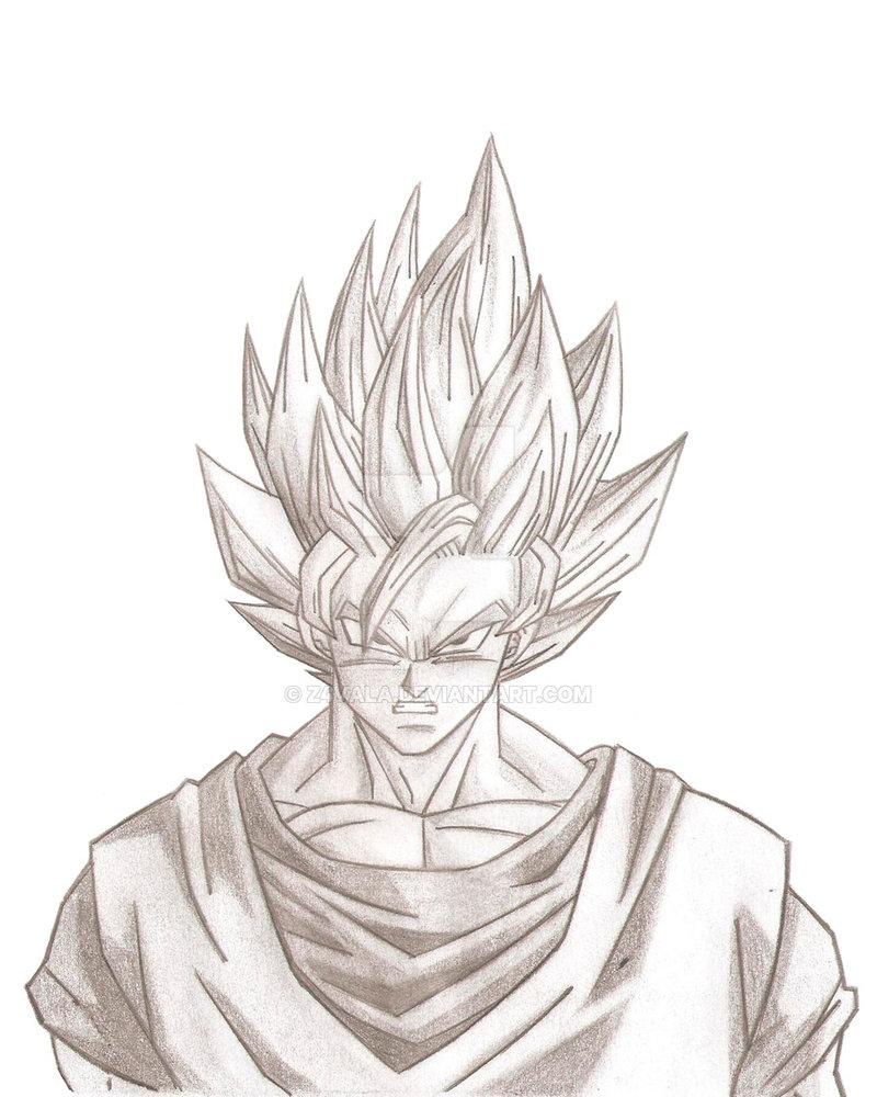 800x1000 Goku Ssj2 By Z4vala