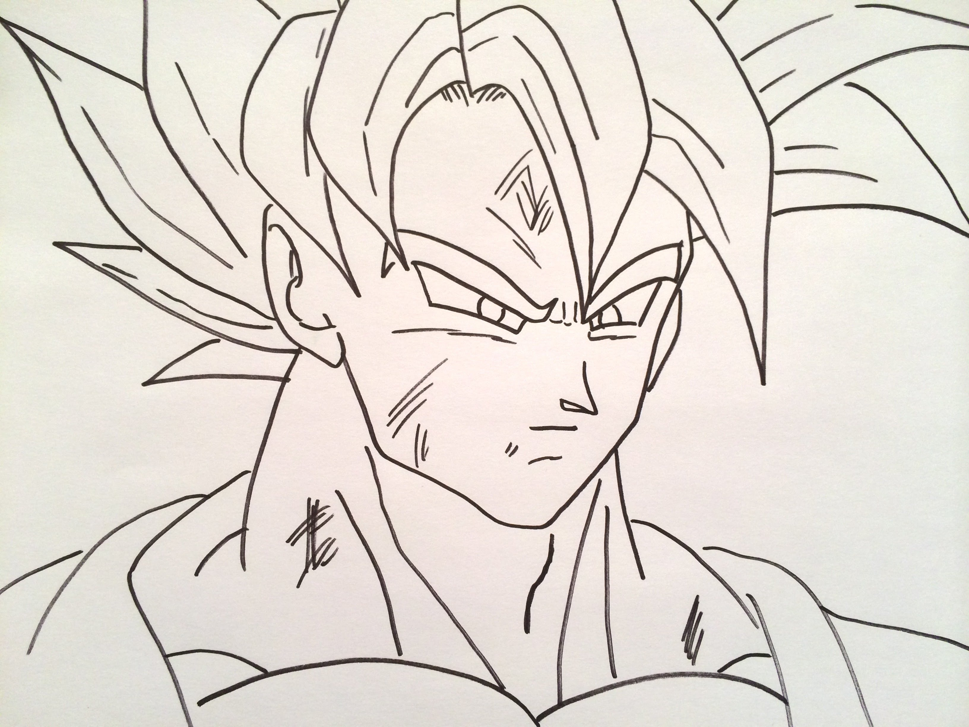 3264x2448 How To Draw Goku Super Saiyan