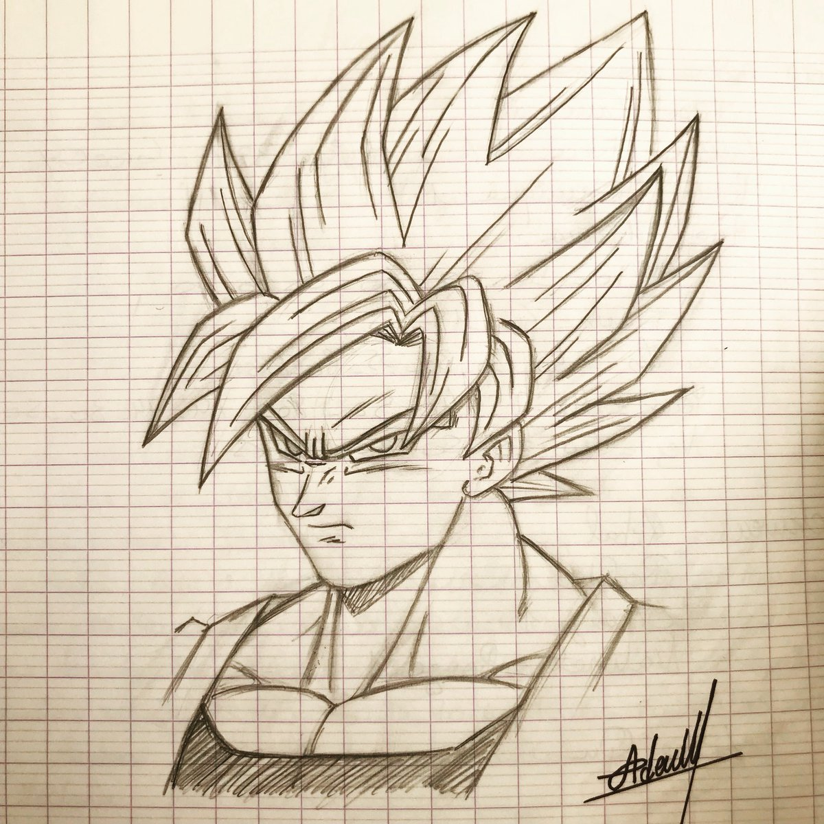 1200x1200 Ademmog On Twitter Goku Sketch