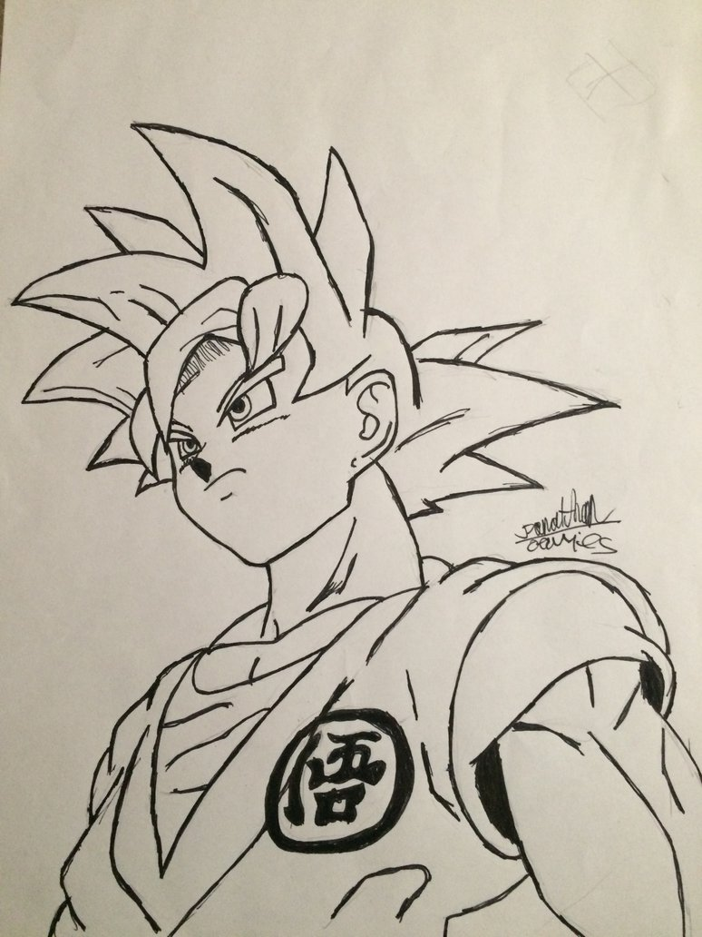 774x1032 Dragon Ball Super Goku(Ssg) By Drawing Chicken