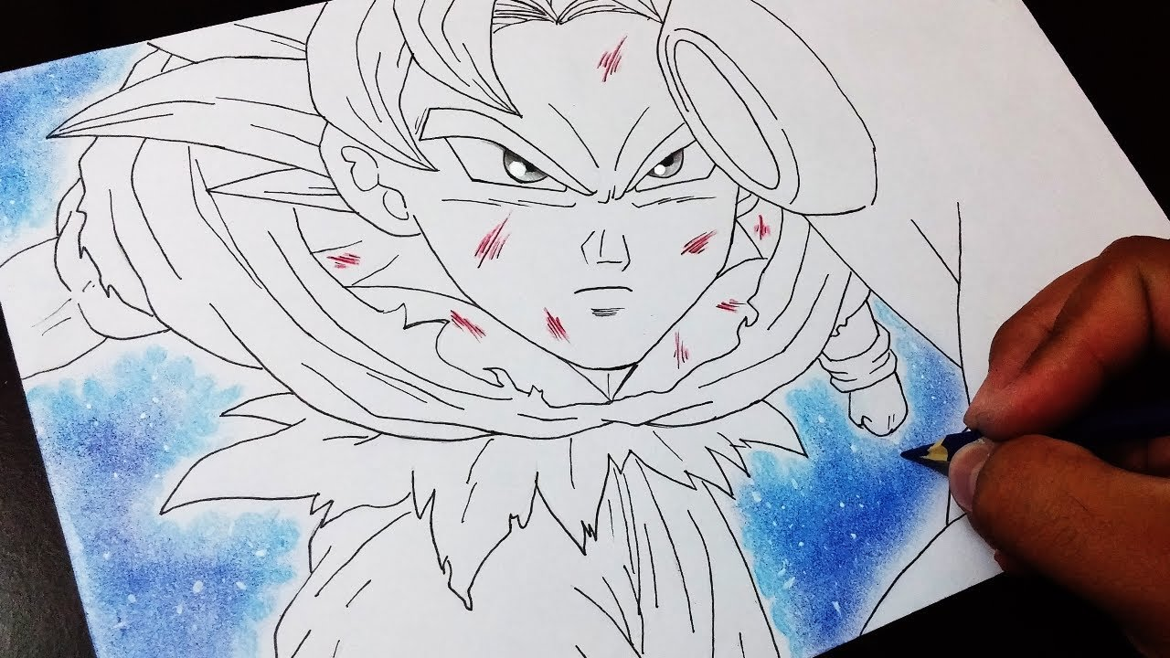 1280x720 Drawing Goku Instinto Superior Vs Jiren