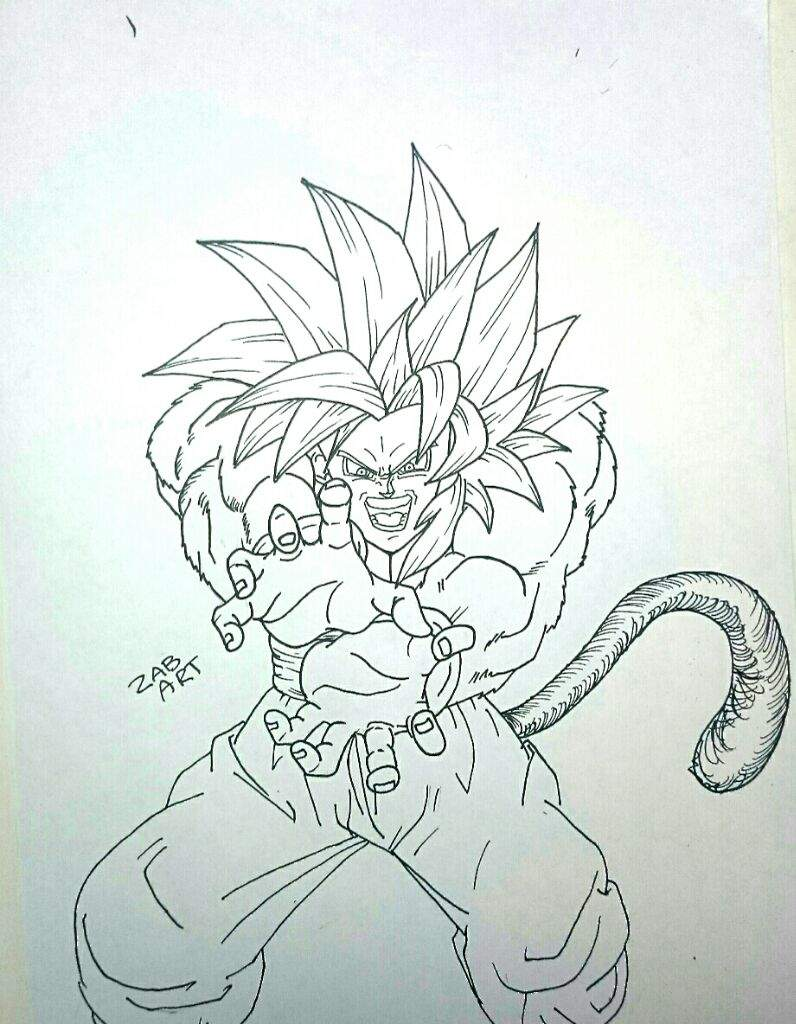 796x1024 Drawing Goku Ssj4