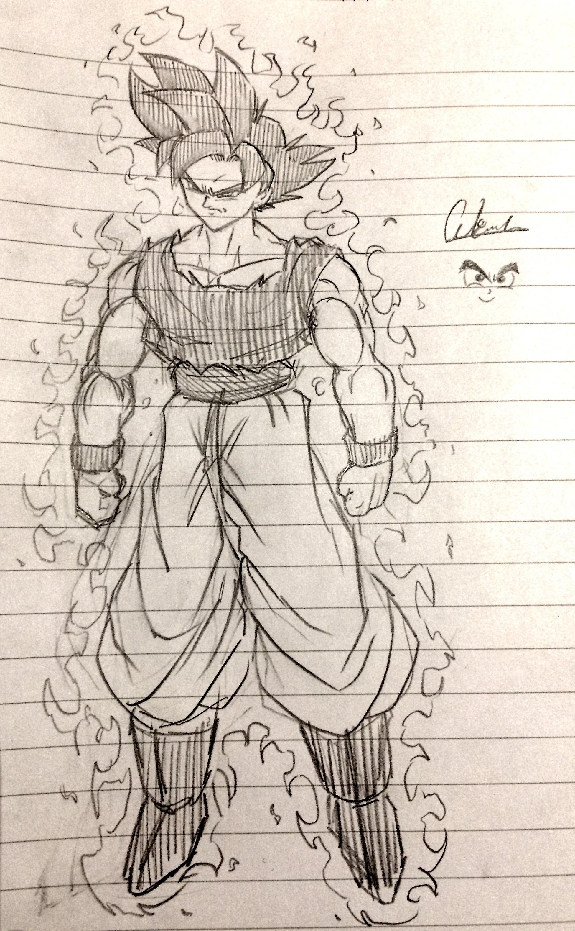 1951x3156 Fan Art] Did A Sketch Of Our New Goku In Tribute Of Tonight'S