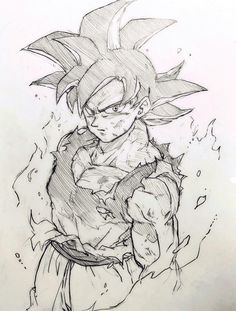 Goku Sketch Drawing At Getdrawingscom Free For Personal Use Goku