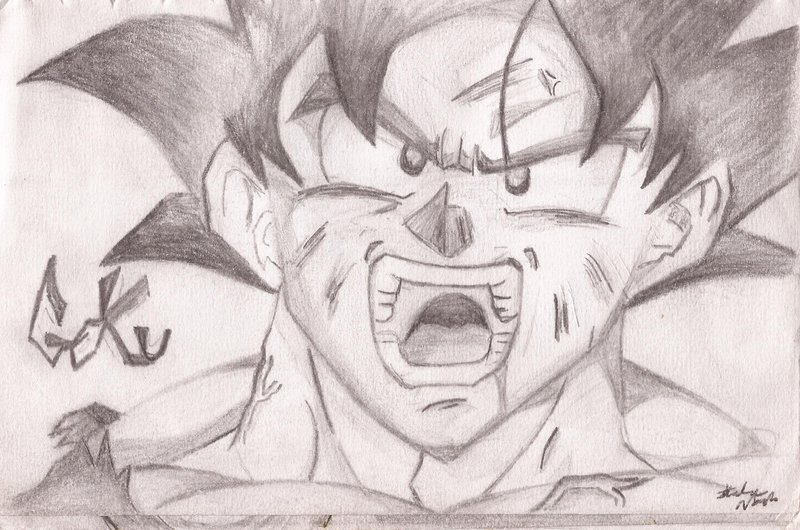 800x530 Goku Sketch By Earthquake2009