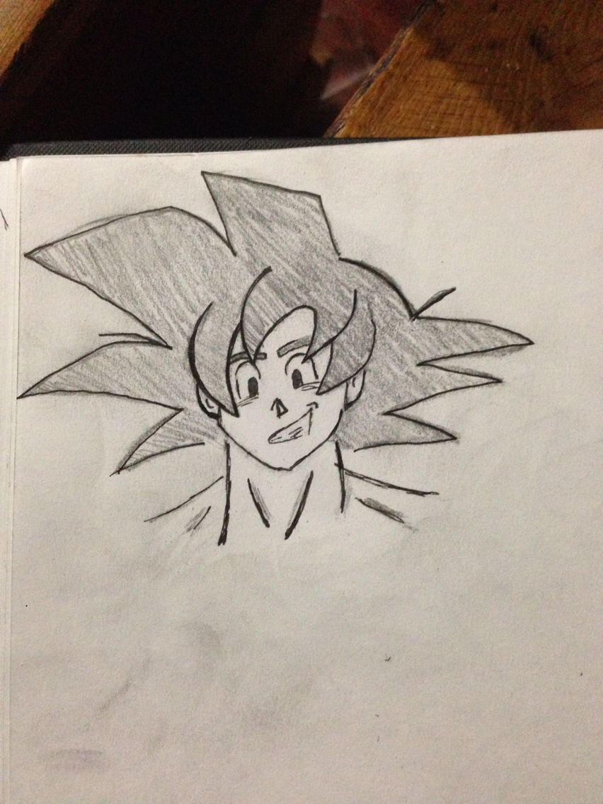 852x1136 Little Quick Goku Sketch Drawing Goku