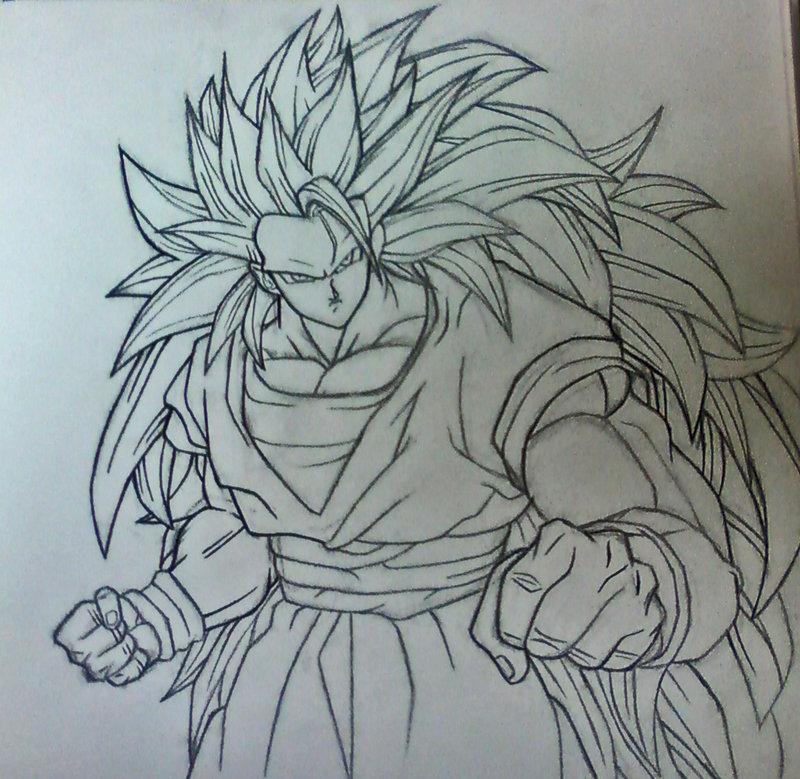 800x779 Ssj3 Goku Sketch Version By Rondostal91