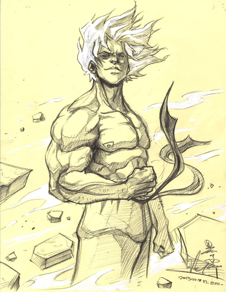 788x1014 Super Saiyan Goku Sketch By Raging Akujiki