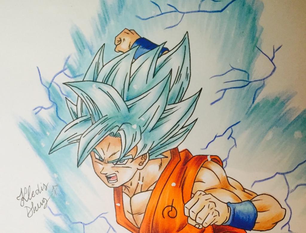 1024x780 Best Goku Super Saiyan Drawings Best Drawing Goku Ssgss Super