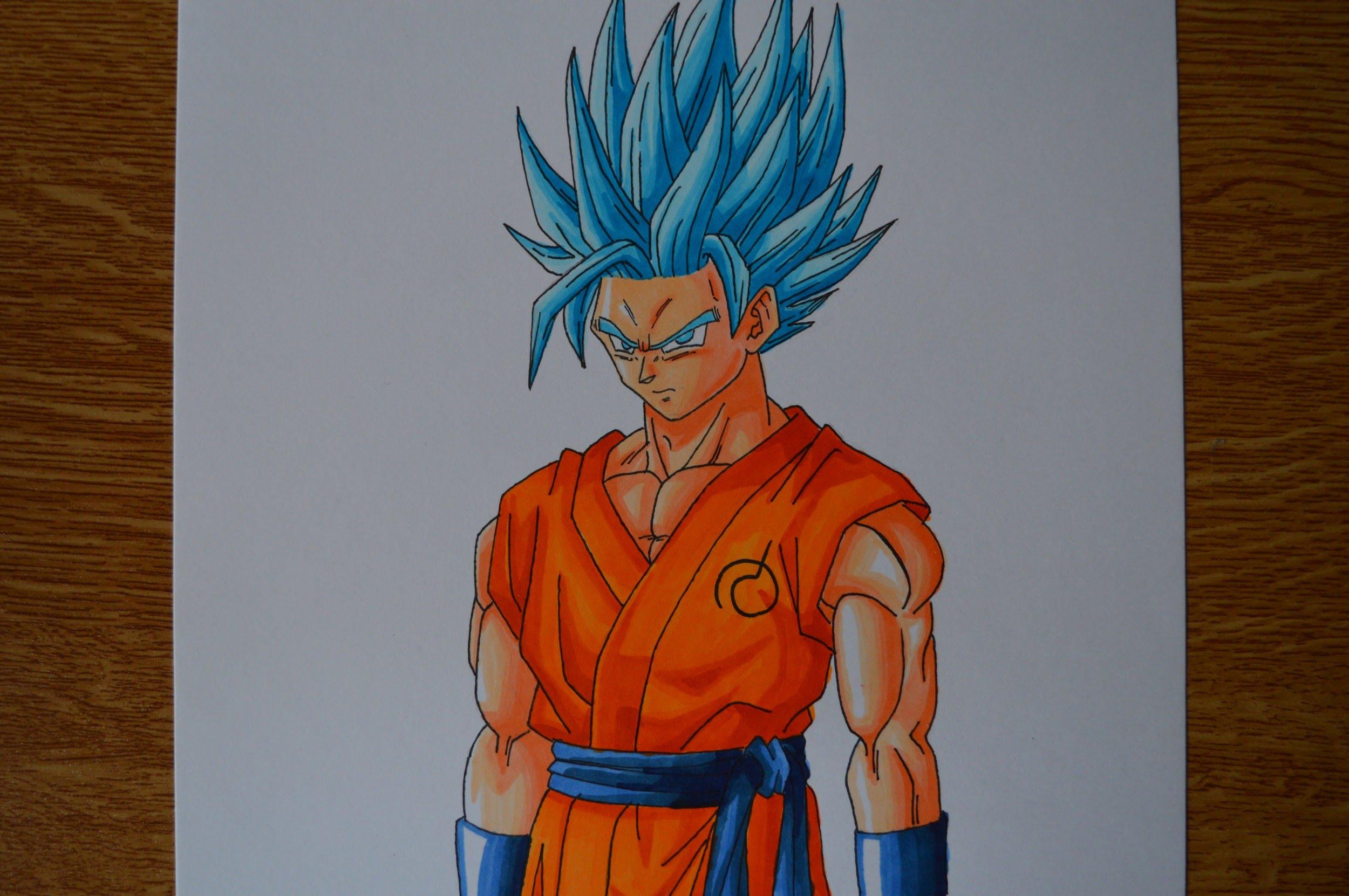 2500x1662 Drawing Goku Ssgss