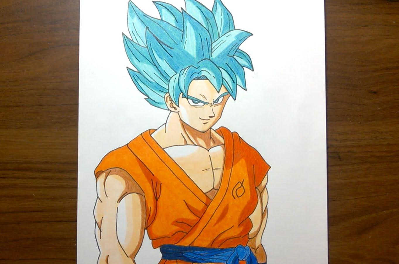 1363x904 Drawing Goku Super Saiyan God Super Saiyan (Ssgss)
