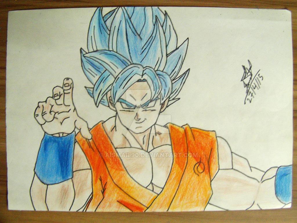 1024x768 Goku Ssgss By Aismail90