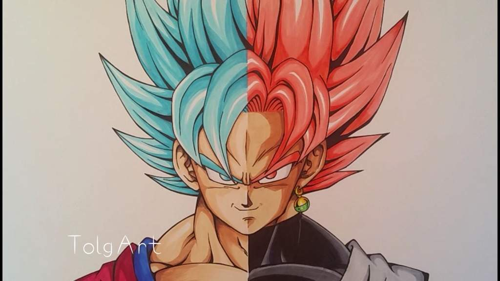 1024x576 Ssgss Goku And Goku Black Rose Drawing By Tolgart Dragonballz Amino