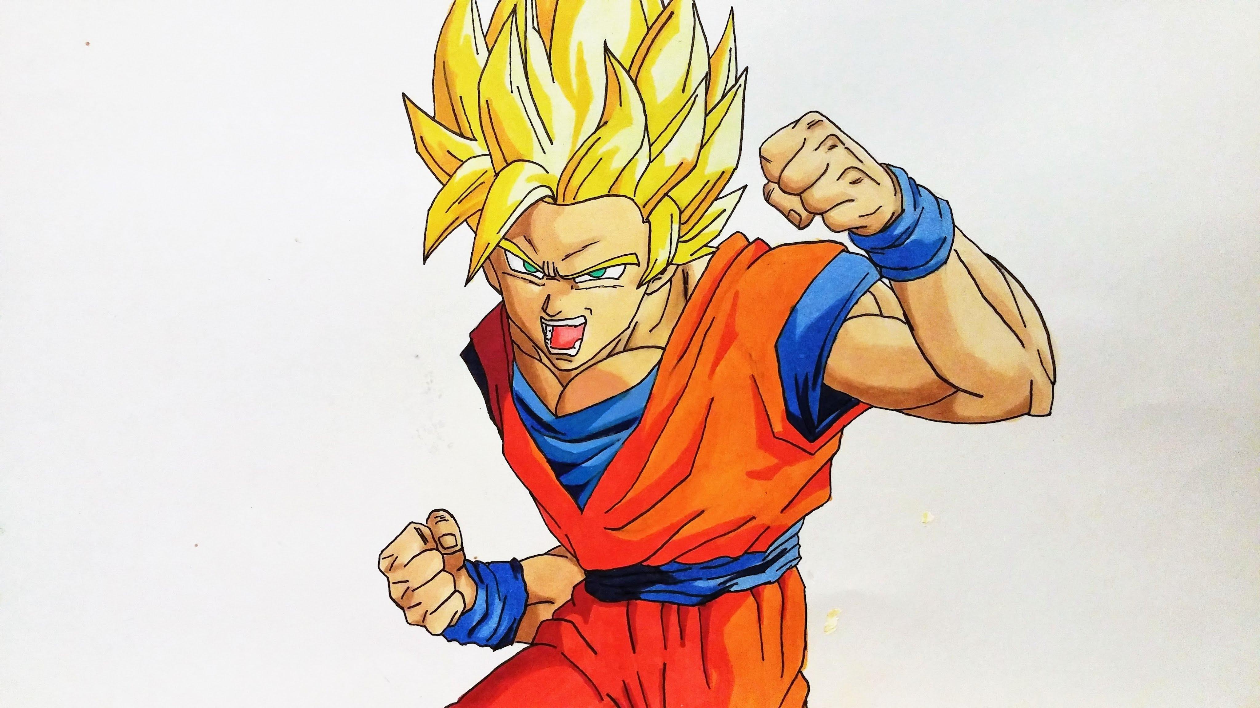Goku Fase 10 Para Colorear: Imagenes De Goku Super Saiyan Blue Para Dibujar Djdareve Com