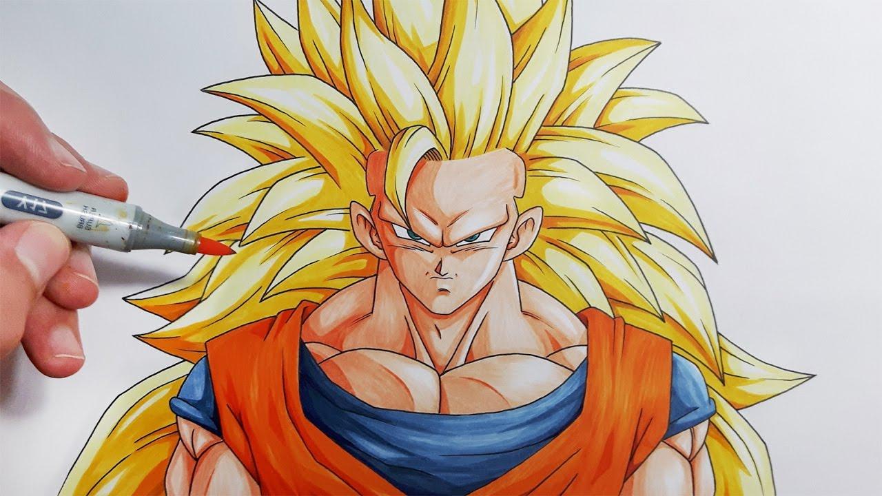 1280x720 Goku Face Drawing Super Saiyan How To Draw Goku Super Saiyan 3