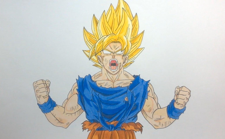 Goku Super Saiyan 2 Drawing At Getdrawings Com Free For