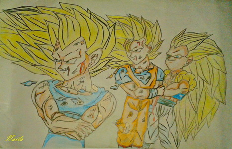 467x300 How Is My Drawing Of Vegeta Super Saiyan 3,goku Super Saiyan 3