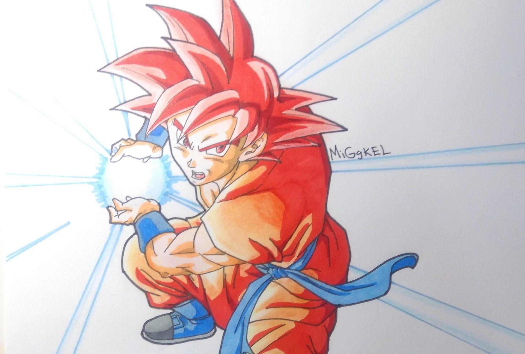 Goku Super Saiyan God Drawing At Getdrawings Com Free For