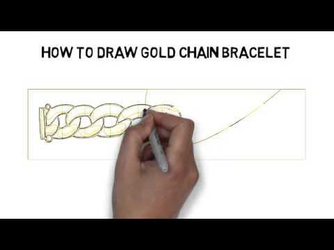 480x360 How To Draw Gold Chain Bracelet