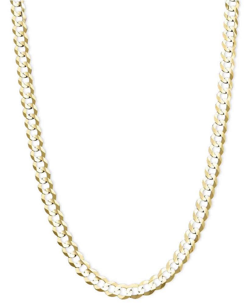 817x1000 Mens 20 Inch Diamond Cut 9ct Gold Curb Chain 23 Grams
