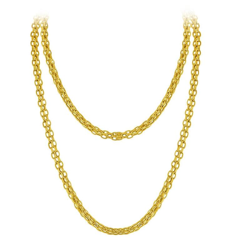 768x768 Tiffany And Co. Estate Gold Chain Necklace C.1960's For Sale