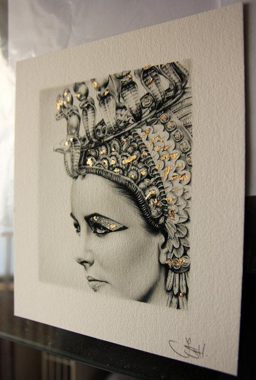 500x742 Elizabeth Taylor Pencil Portrait Drawing Fine Art Limited