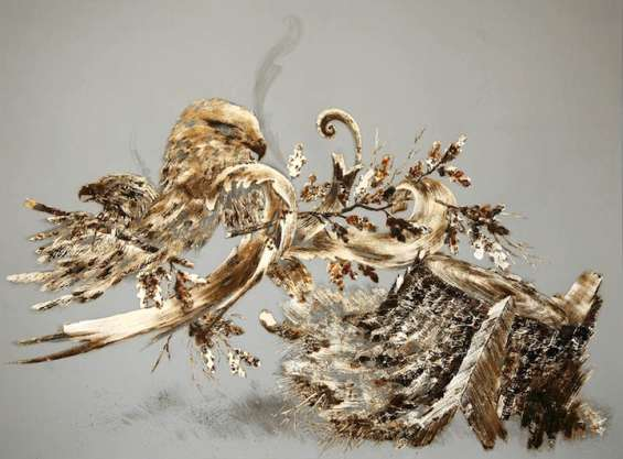 565x417 Sarah A. Smith's Corroded Gold Leaf Drawings