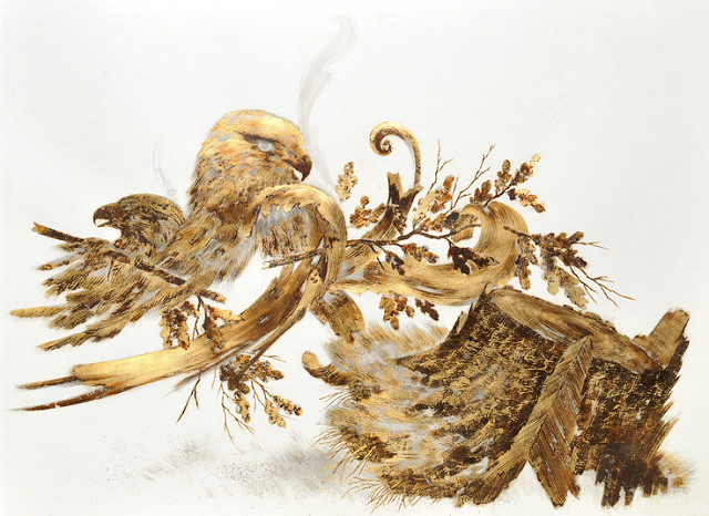 640x466 Sarah A. Smith Pushes The Possibilities Of Gold Leaf With Drawings