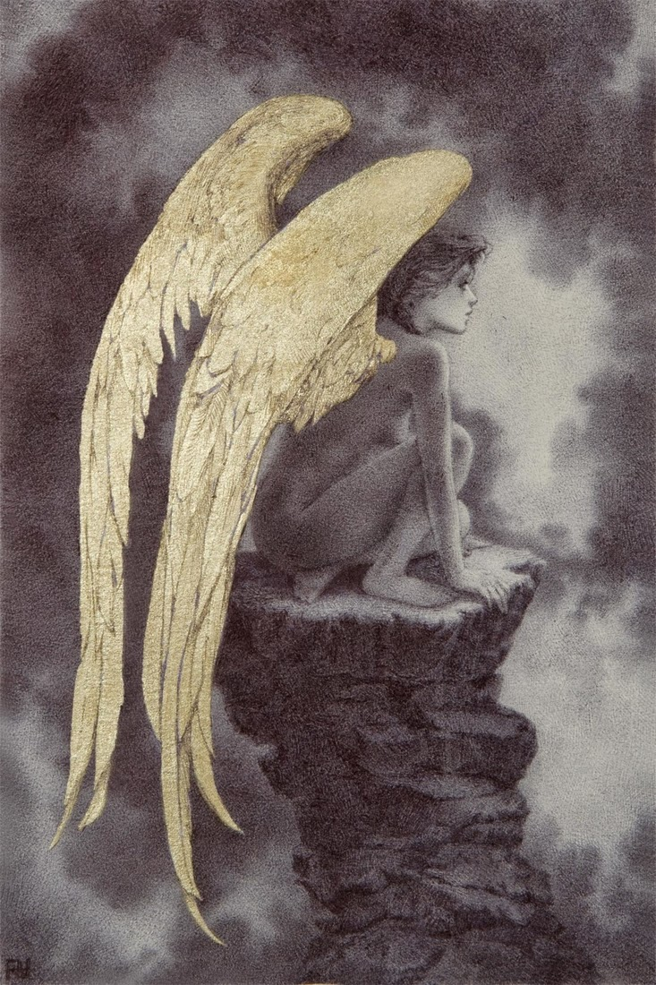 733x1100 Sublime Ballpoint Pens And Gold Leaf Illustrations By Rebecca