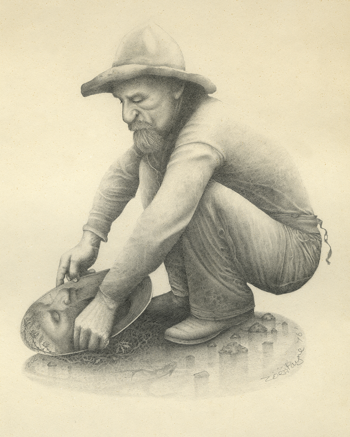1200x1500 Gold Miner's Reflection The Art Of Payne
