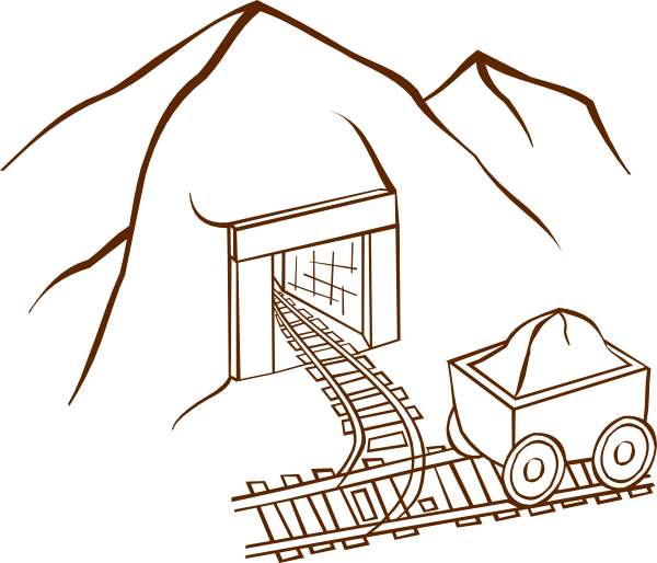 600x514 Gold Mining Coloring Pages