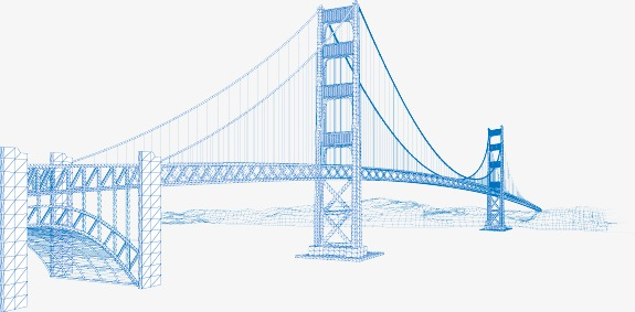 575x283 Golden Gate Bridge, Golden Gate Bridge Line Drawing Fig., Usa