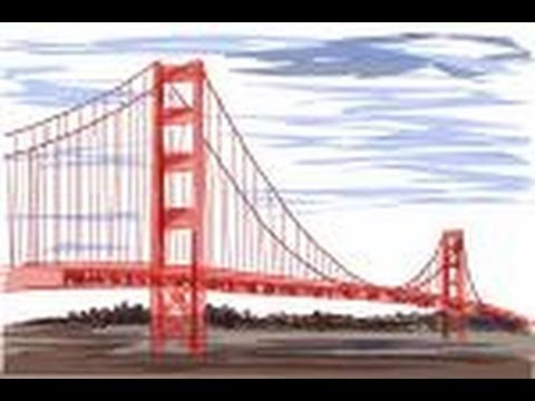 480x360 How To Draw The Golden Gate Bridge