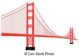 274x194 Silhouette Of Golden Gate Bridge Eps Vectors