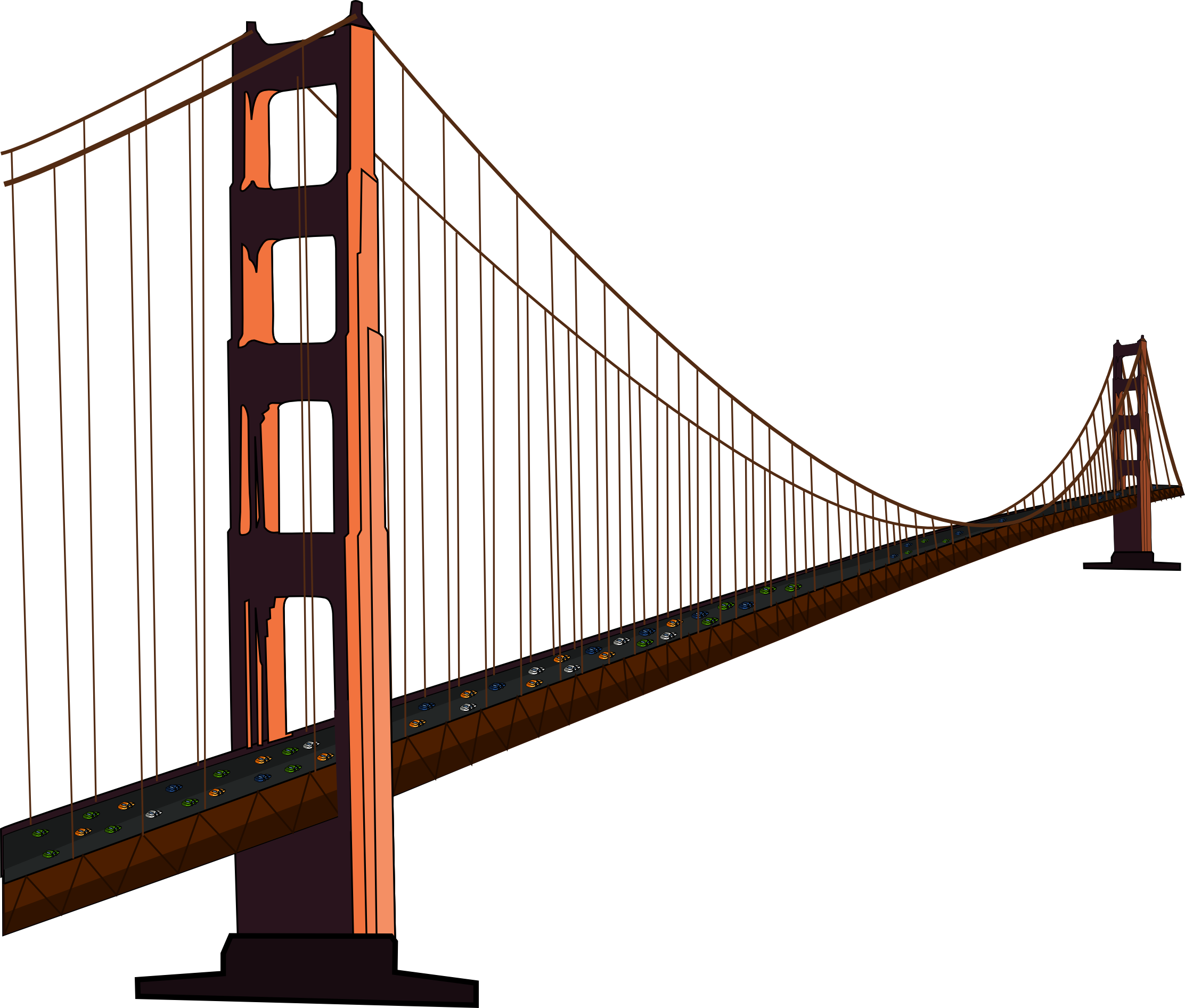 golden gate bridge drawing clip art at getdrawings com free for rh getdrawings com bridge clipart black and white bridge clip art free images