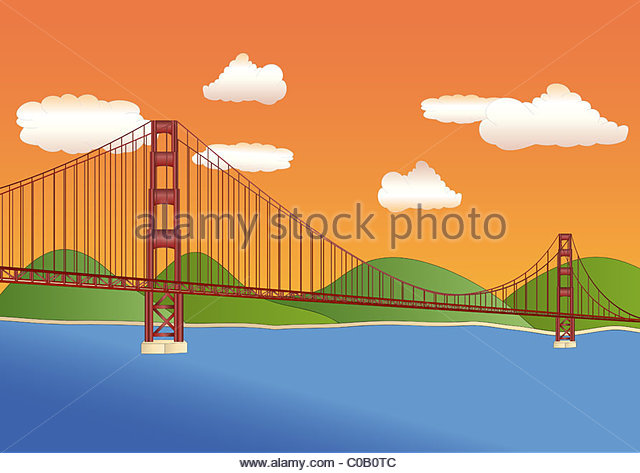 640x473 Golden Gate Bridge Illustration Stock Photos Amp Golden Gate Bridge