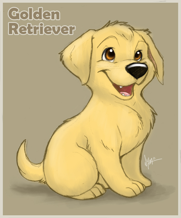 600x723 Golden Retriever Puppy By Nyaasu