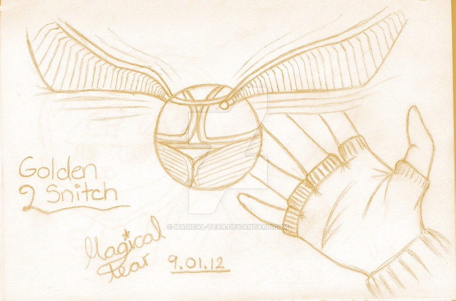 900x594 Golden Snitch Sketch By Magical Tear