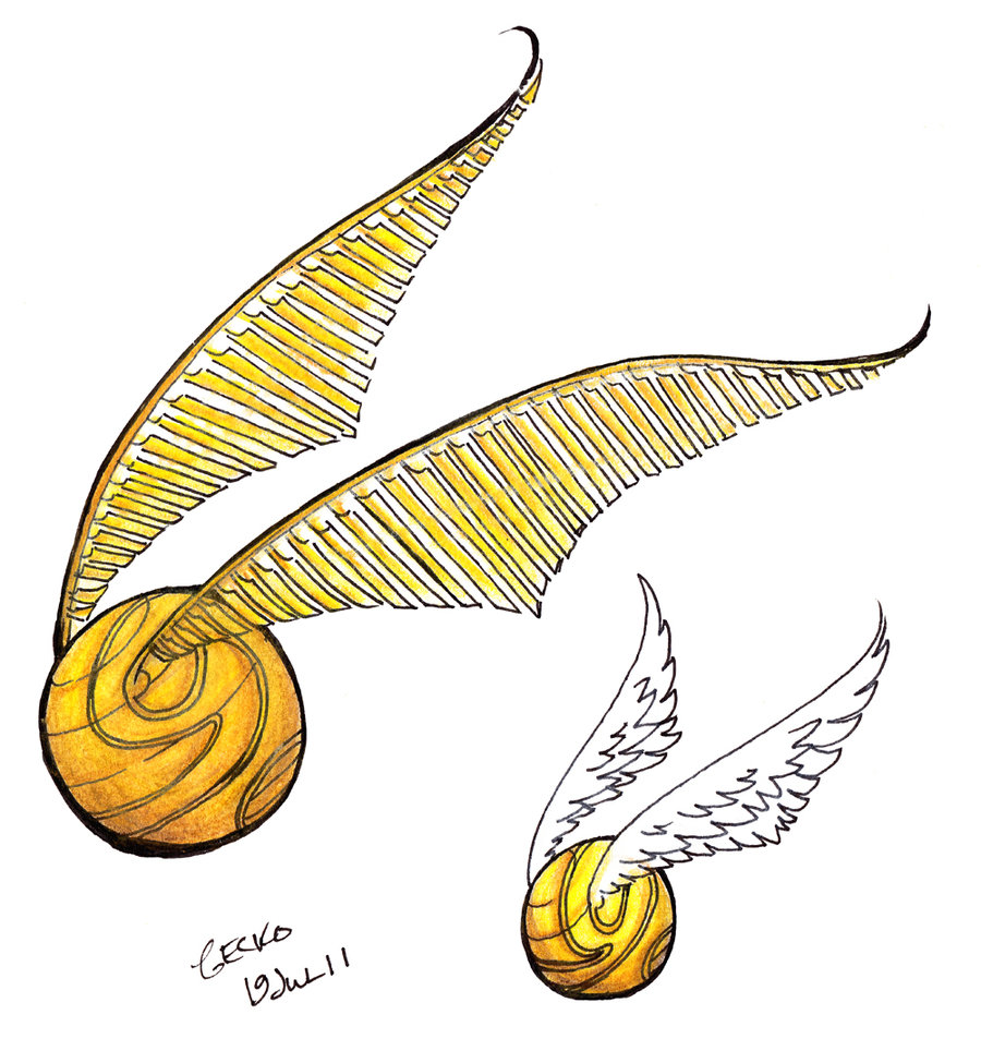 This is a graphic of Clever Harry Potter Snitch Drawing