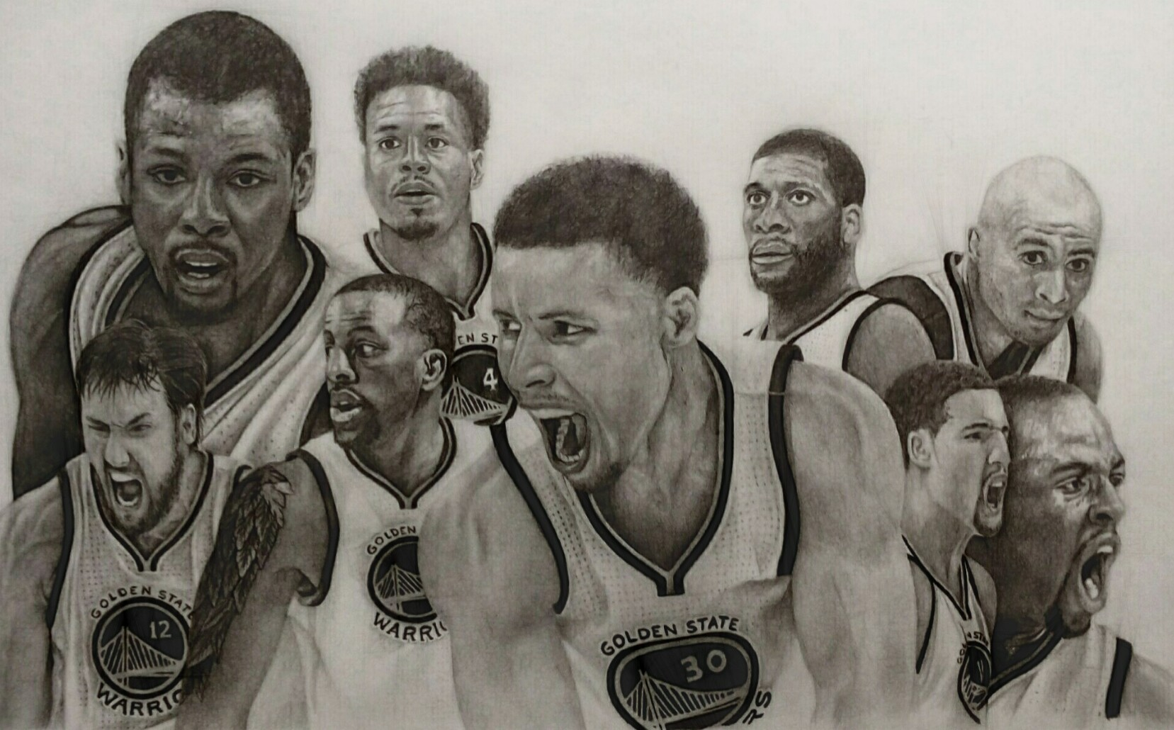 1657x1030 I Drew The Entire Golden State Warriors Roster