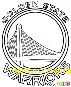 245x300 Warriors Coloring Pages With How To Draw Golden State Warriors