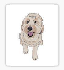 210x230 Goldendoodle Drawing Stickers Redbubble