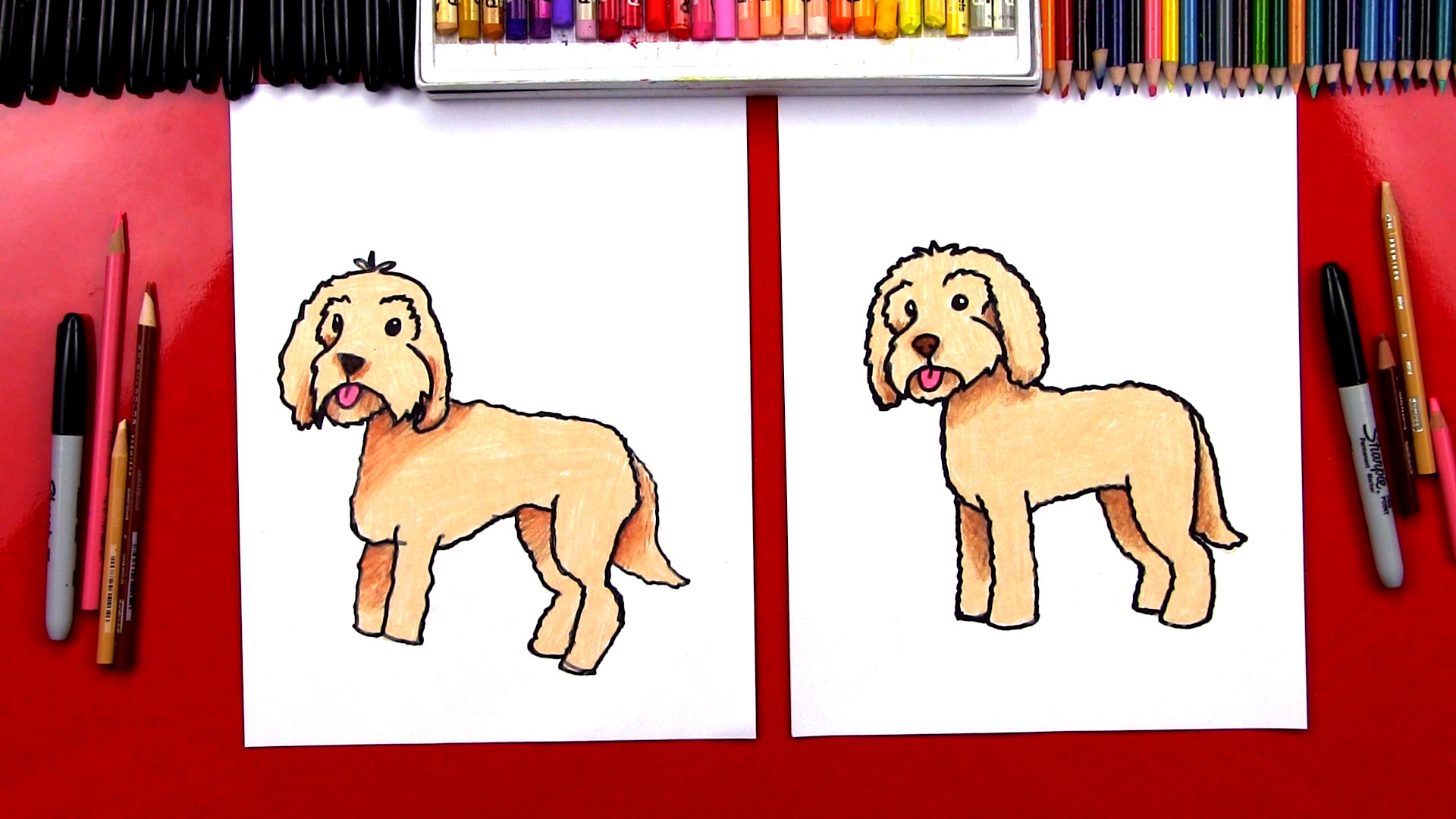 1920x1080 How To Draw A Goldendoodle