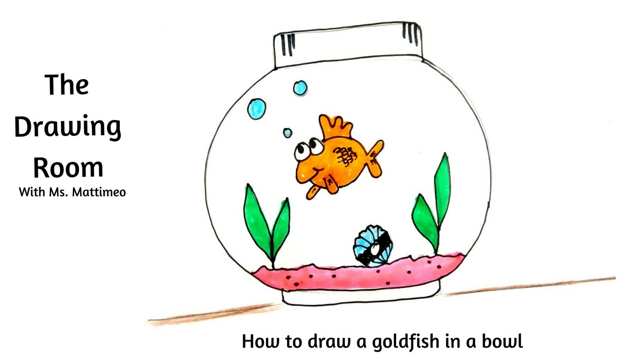 1280x720 How To Draw A Goldfish In A Fish Bowl