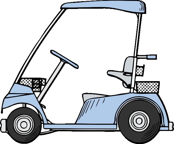 600x497 Golf Cart Clip Art